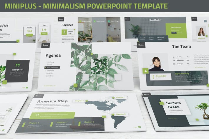 Thumbnail for MiniPlus - Minimalism Powerpoint Template
