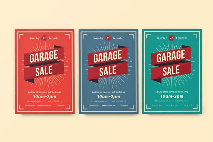 Thumbnail for Vintage Garage Sale flayer