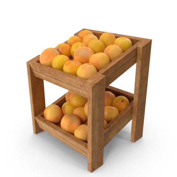 Wooden Merchandise Shelf  With Grapefruits