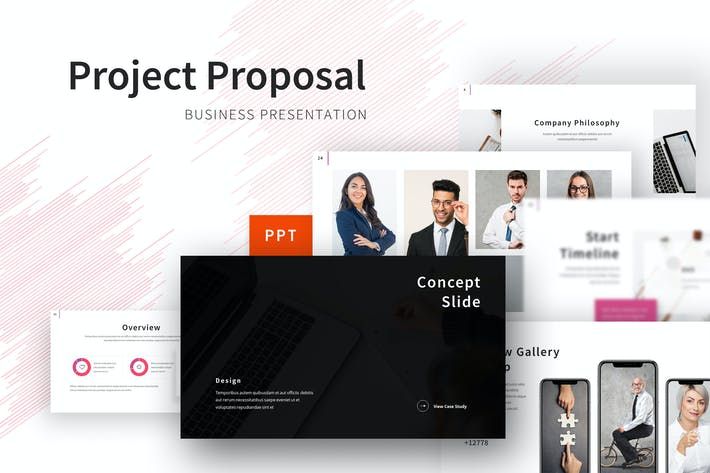 Thumbnail for Project Proposal - Business Powerpoint Template