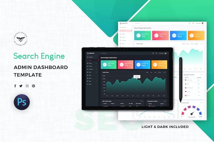 Thumbnail for SEO Admin Dashboard UI Kit