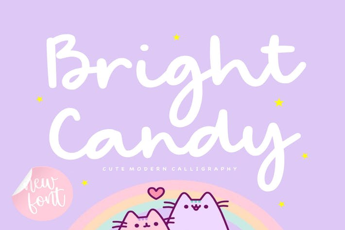 Thumbnail for Bright Candy YH - Cute Calligraphy Font