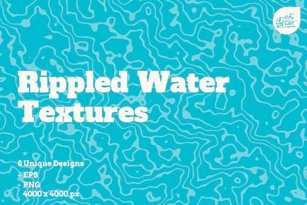 Texturas de agua ondulada