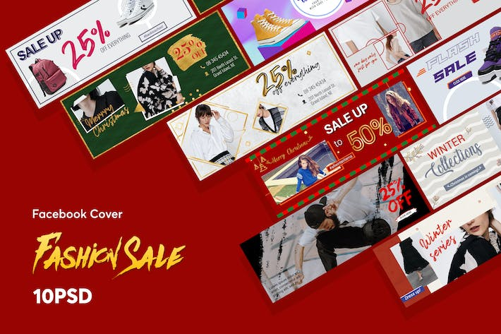 Thumbnail for Creative Fashion Sale Facebook Cover PSD Template