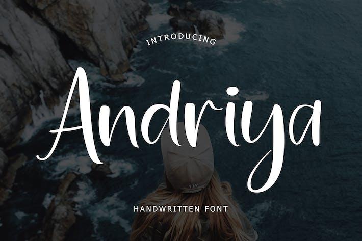 Thumbnail for Fuente escrita a mano Andriya
