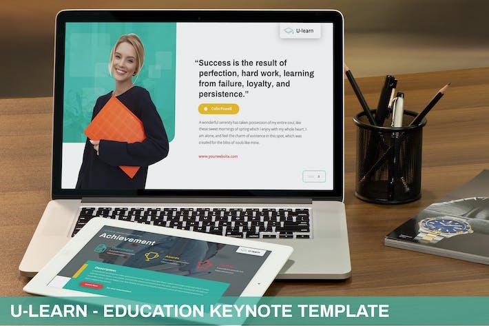 Thumbnail for U-Learn - Education Keynote Template