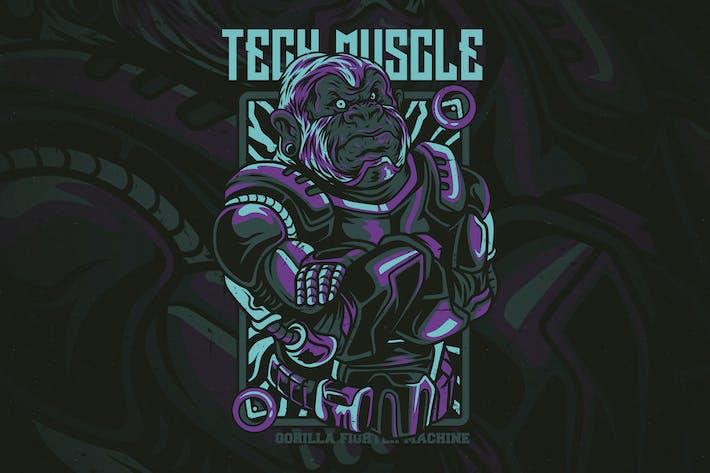 Thumbnail for Tech Muscle T-Shirt Design