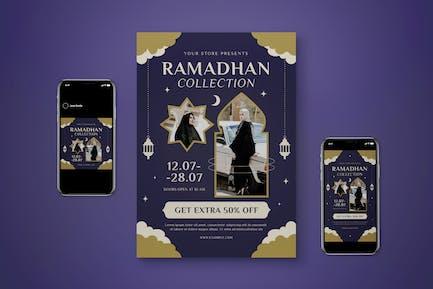 Ramadan Fashion Collection Flyer Set