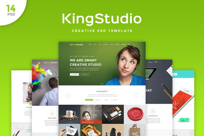 Thumbnail for King Studio - Creative PSD Template