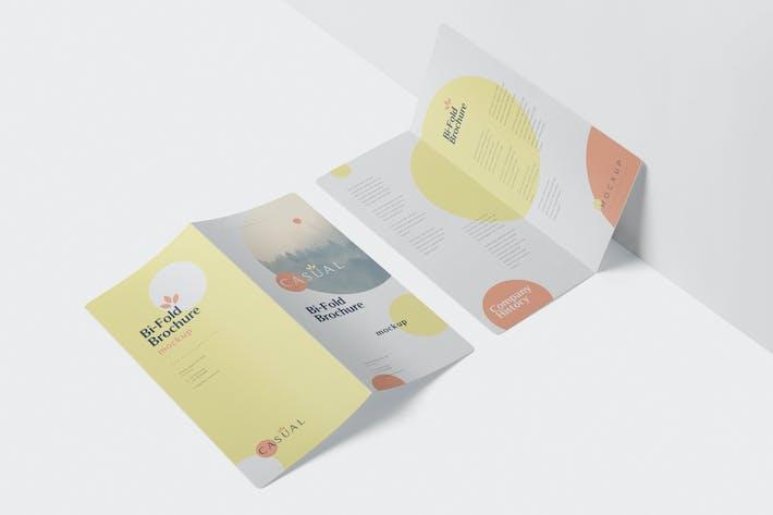 Thumbnail for DL Bi-Fold Broschüre Mock-Up Set - Runde Ecke