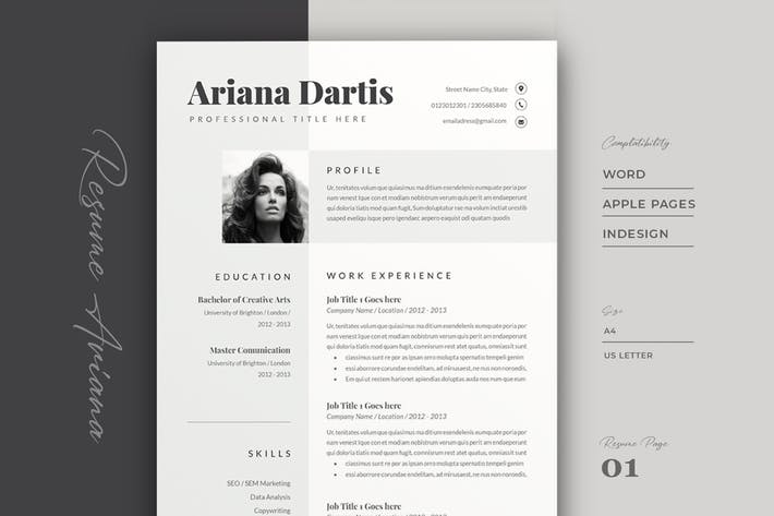 Thumbnail for Resume Template Cv