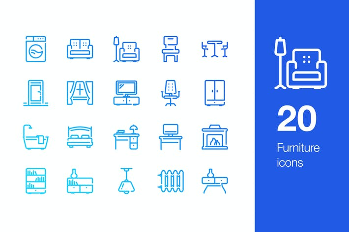 Thumbnail for 20 Furniture icons