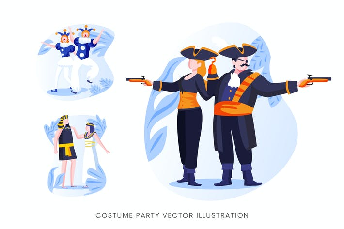 Thumbnail for Costume Party Vector Character Set