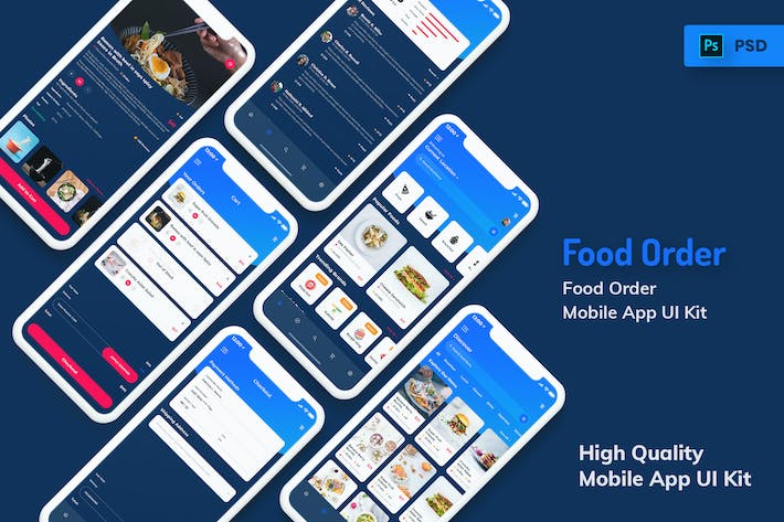 Thumbnail for Food Order Mobile App Dark Version