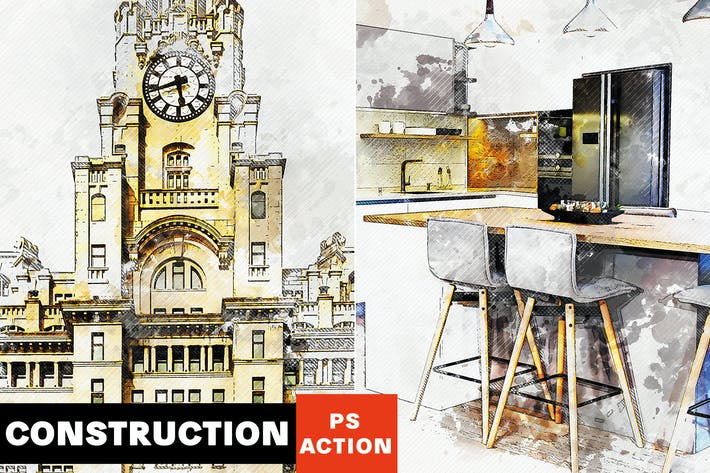 Thumbnail for Construction - Architectural Art Photoshop Action