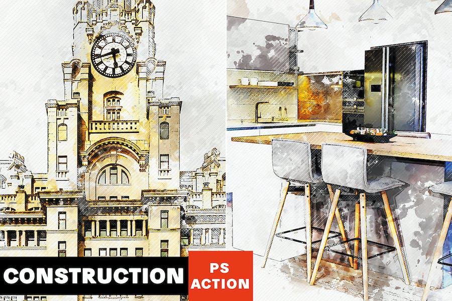 Construction - Architectural Art Photoshop Action
