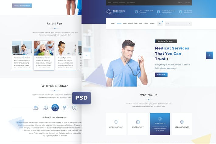 Thumbnail for ProMedical - Health care & Medical PSD Template