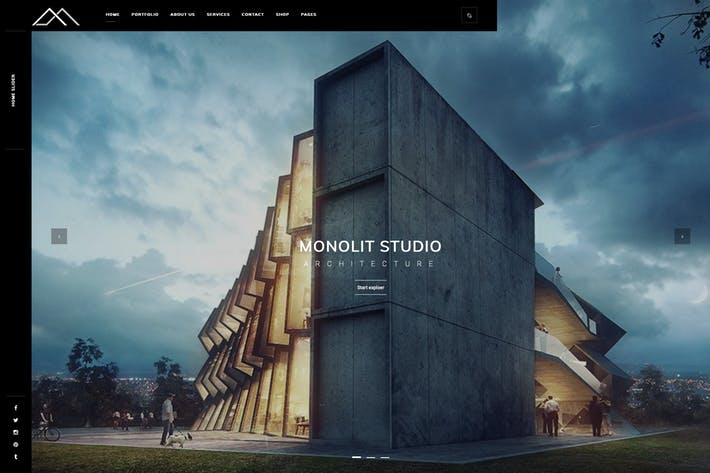 Thumbnail for Monolit – Responsive Architecture WordPress Theme