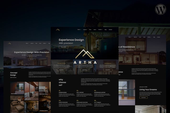 Thumbnail for Artha Interactive Interior WordPress Theme