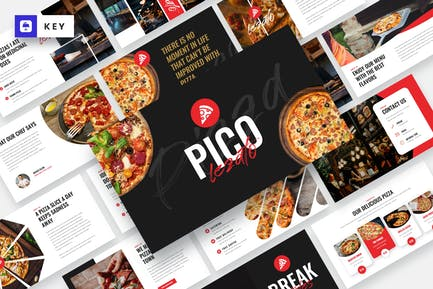 Pico Lezato - Pizza & Fast Food Keynote Template