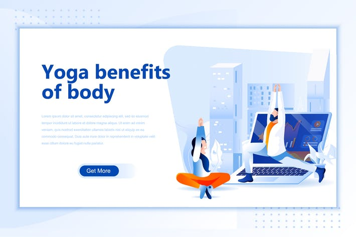 Thumbnail for Yoga Benefits Flat Landing Page Header