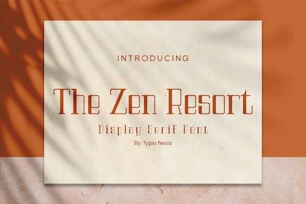 The Zen Resort - Royal Luxury Font