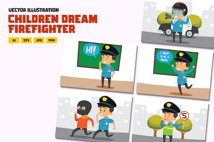 Thumbnail for Дети, служащий полиции