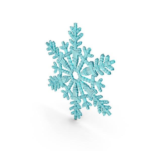 Snowflake Cyan