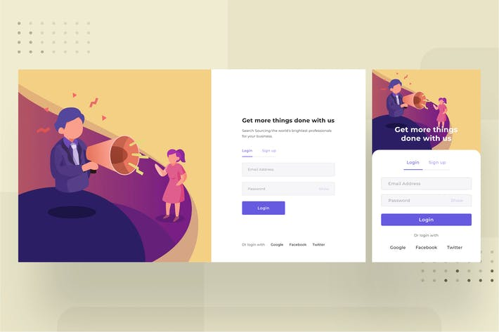Thumbnail for Login page template 1.1