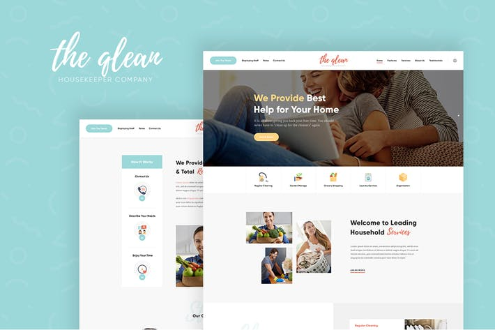 Thumbnail for The Qlean - Cleaning Company WordPress Theme