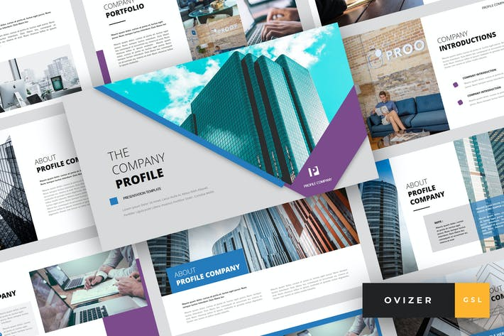 Thumbnail for Ovizer - Company Profile Google Slides Template