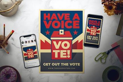 US General Election Day Flyer Set