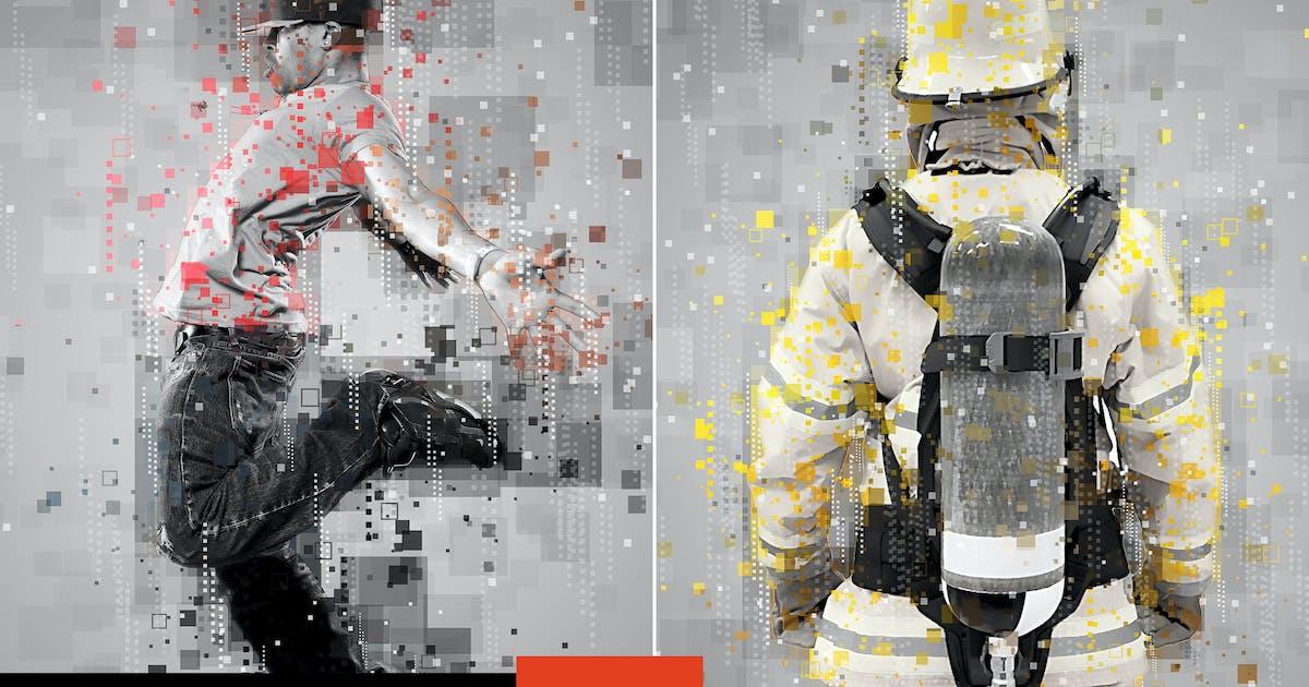 Download Pixels Poster Photoshop Action by AB-Designer