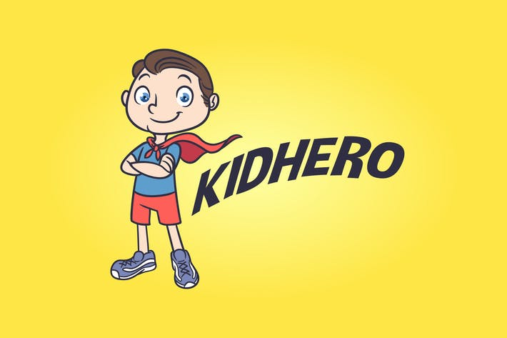 Thumbnail for Kid Hero - Superhero Mascot Logo