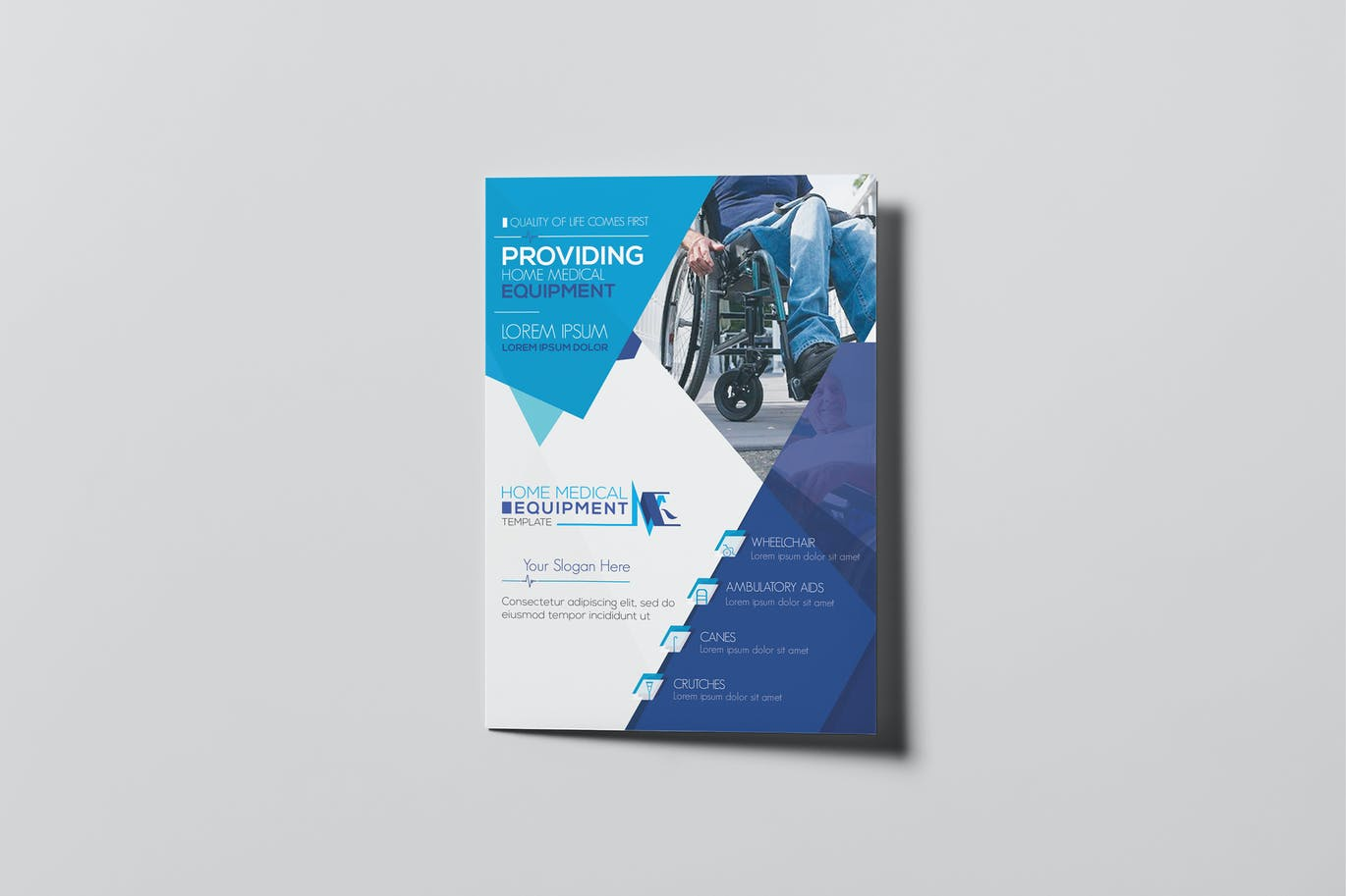 Home medical equipment a5 brochure template by wutip on for Brochure templates envato