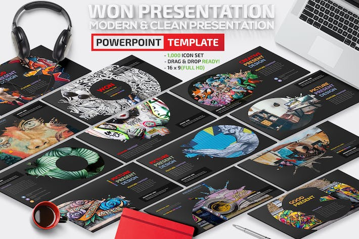 Thumbnail for Won Powerpoint Template