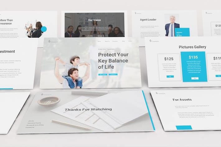 Thumbnail for Insurance Google Slides Template
