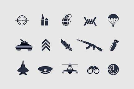 12 Militärische Icons
