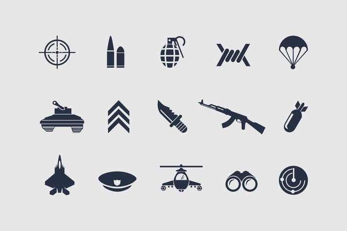 Thumbnail for 12 Military Icons