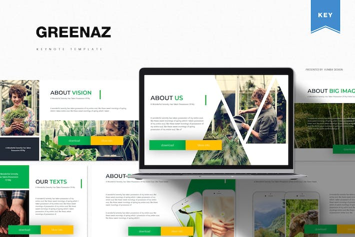 Thumbnail for Greenaz | Keynote Template