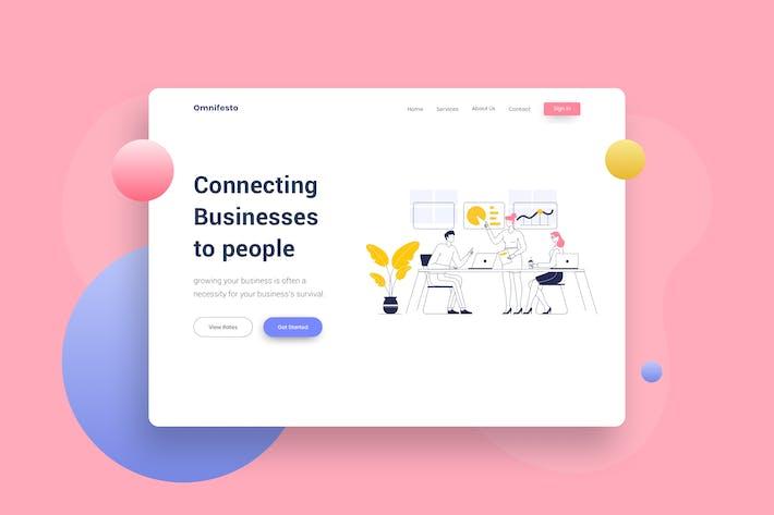 Thumbnail for Teamwork Brainstorm Website Header Illustration