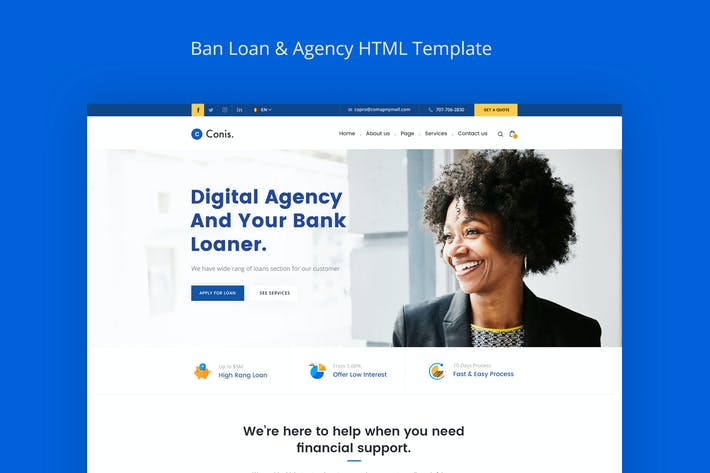 Thumbnail for Conis - Business And Finance HTML Template