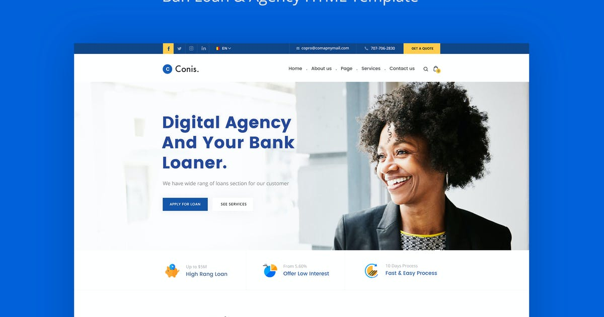 Download Conis - Business And Finance HTML Template by CreativeGigs