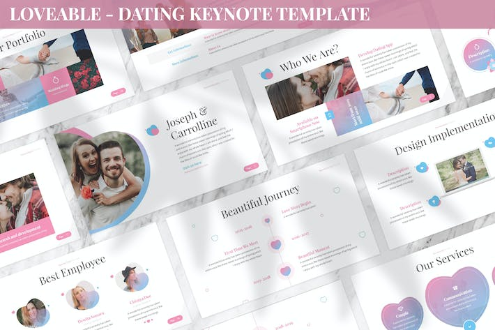 Loveable - Dating Keynote Template