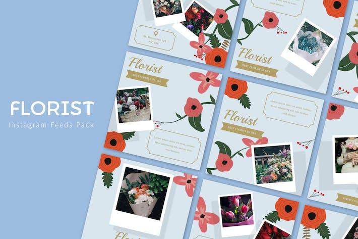 Thumbnail for Florist - Instagram Feeds Pack