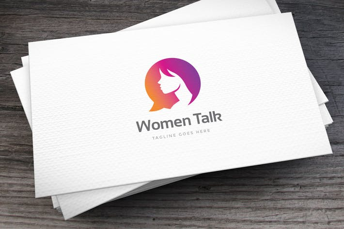 Thumbnail for Women Talk Logo Template