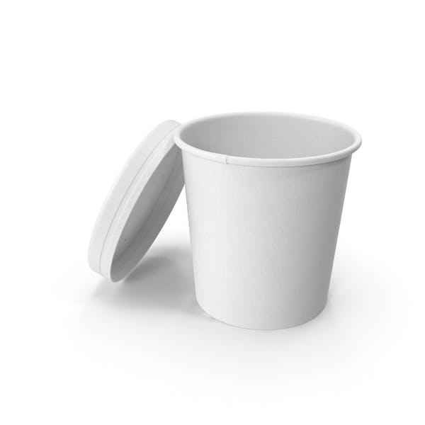 Белая бумага Food Cup с вентилируемой крышкой одноразовое ведро для мороженого 16 унций 450 мл Open