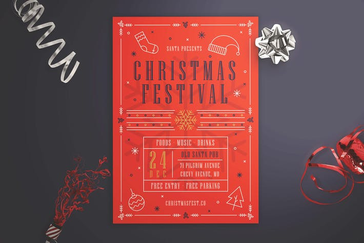 Thumbnail for Christmas Festival Flyer