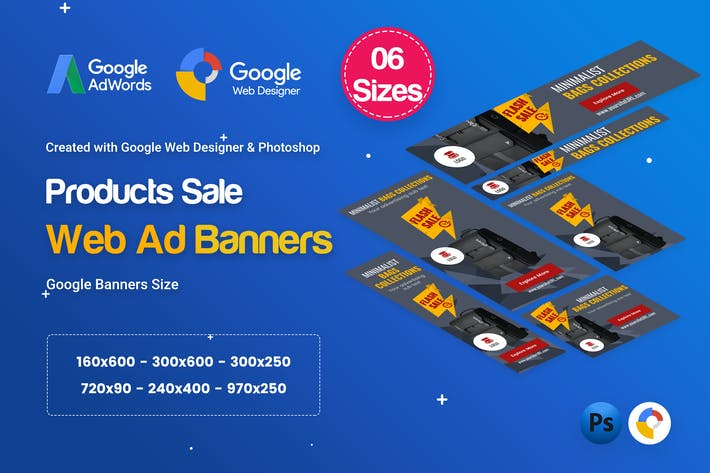 Cover Image For Product Sale Banners HTML5 D8 Ad - GWD & PSD