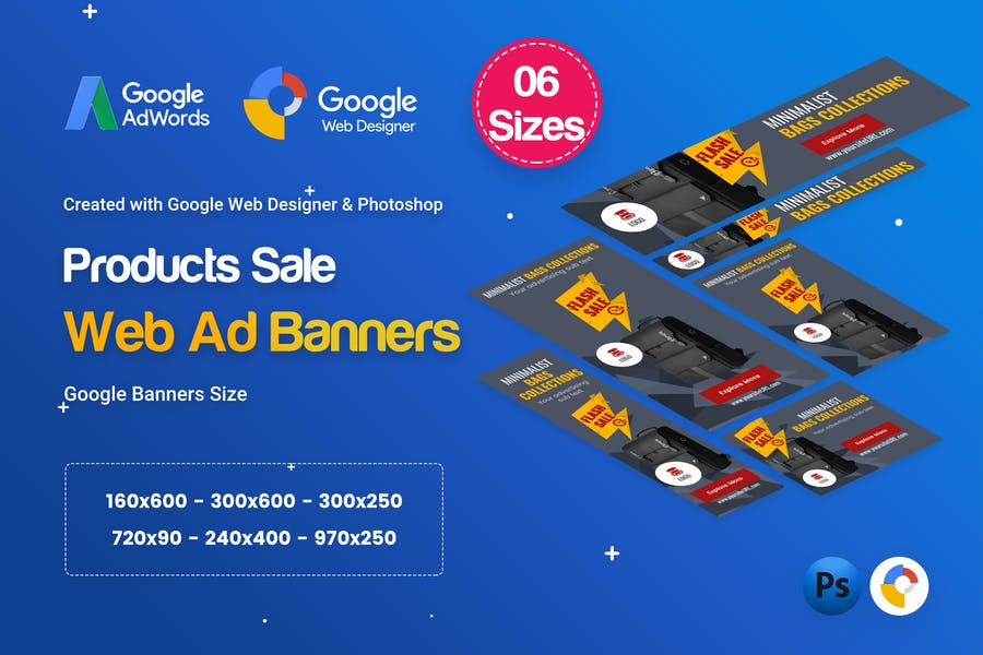 Product Sale Banners HTML5 D8 Ad - GWD & PSD
